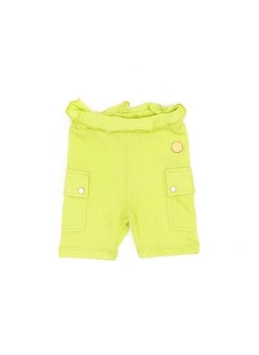 BG Baby Kız Bebek Neon Yeşil Şort Yeşil